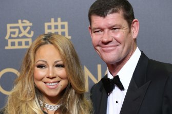 Mariah Carey and James Packer in 2015.