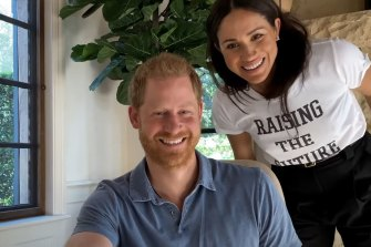 Prince Harry and Meghan Markle in the new mental health series, The Me You Can't See.