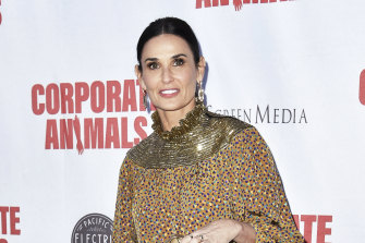 Demi Moore attends the LA premiere of Corporate Animals on September 18, 2019, in Los Angeles.