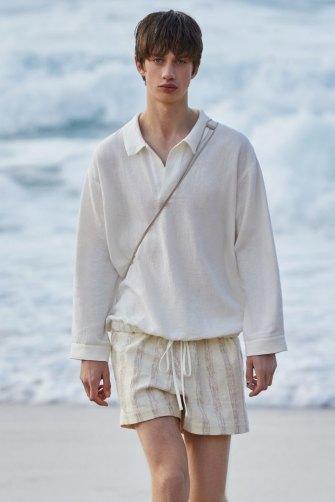 Beach boys. Commas at Tamarama Beach for Australian Fashion Week.