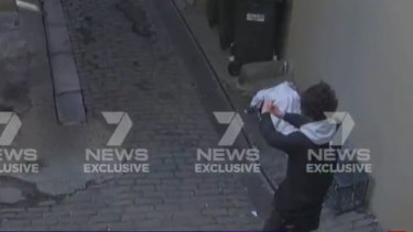 Mert Ney appears to take a selfie on CCTV footage obtained by Seven News.