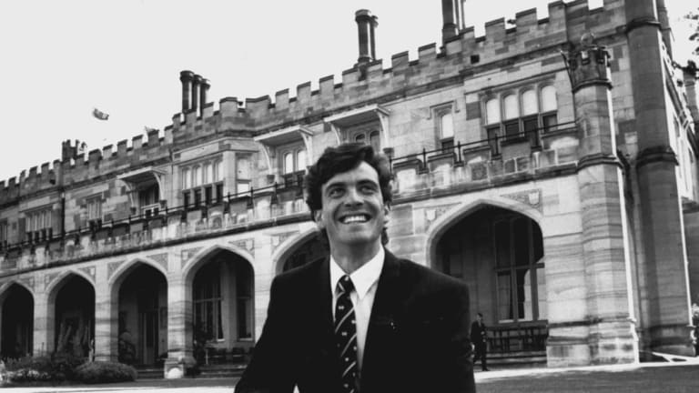 A 21-year-old Attila Brungs as the 1993 Rhodes Scholar.