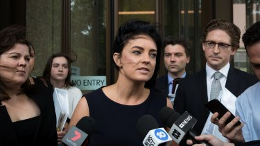 Emma Husar, pictured in December, is pursuing legal action against BuzzFeed.