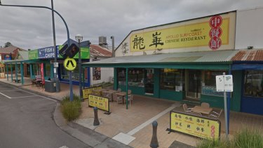 The shops were captured on Google street view before the fire.