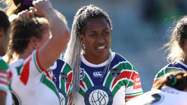 Australia's rugby union Sevens star Ellia Green was a hit in her first NRLW match for the Warriors.