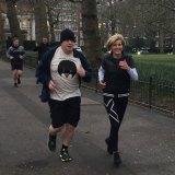Julie Bishop and Boris Johnson enjoy a brisk jog around London in 2018.