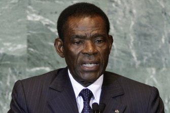 Teodoro Obiang Nguema Mbasogo, President of Equatorial Guinea.
