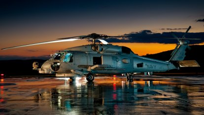 Australian Navy helicopter crashes in Philippine Sea
