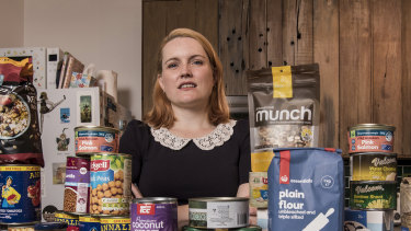 Melissa Paisley does not usually keep much food in the house but has stocked up as a precaution.