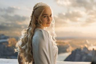 Emilia Clarke portrays Daenerys Targaryen in a scene from HBO's Game of Thrones.