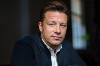 Jamie Oliver says he has no regrets about the collapse of his restaurant business.