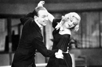 Fred Astaire and Ginger Rogers go through their paces in the 1936 film, Swing Time.