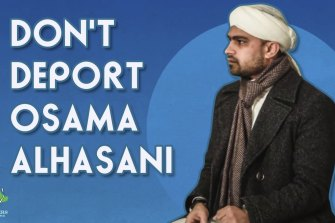 An image of Saudi-Australian Dr Usama al-Hasani in a statement of support by Prisoners of Conscience.