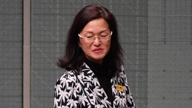 Gladys Liu in Parliament last week.