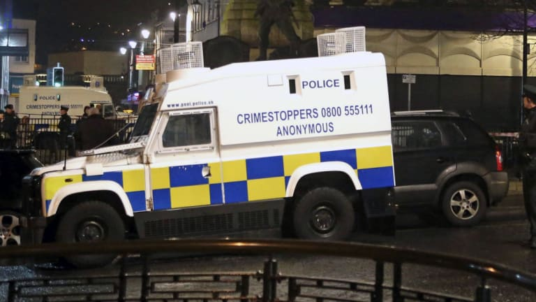 Police are focusing on the role of the New IRA in a car bombing in Northern Ireland over the weekend.