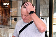 Queensland Maroons coach Kevin Walters is seen leaving the team hotel in Perth on Monday.
