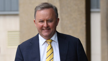Anthony Albanese arrives at the NSW Supreme Court on Thursday.