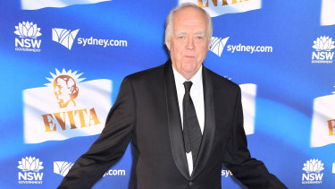 Sir Tim Rice flew Down Under for the opening night of Evita.