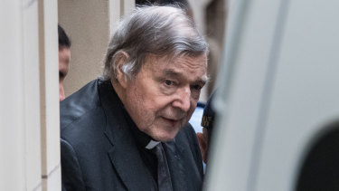 Pell leaving court on Wednesday morning