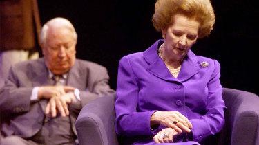 Margaret Thatcher and Edward Heath.