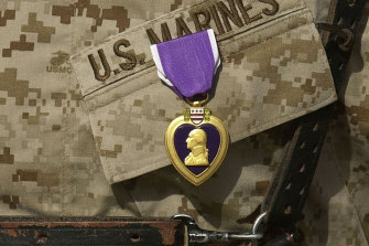 The Purple Heart is a United States military decoration awarded to those wounded or killed while serving.