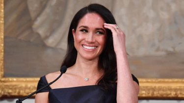 Meghan Markle at a reception at Government House in Wellington, New Zealand, last October.