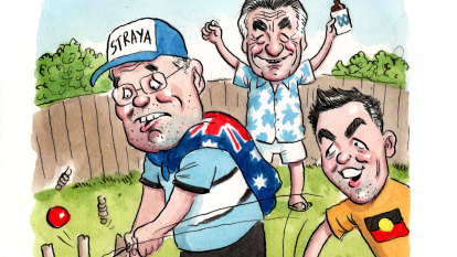 January 26 and Barrie Cassidy's proud cricket dad moment