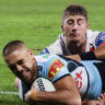 Sharks stave off rally by Dragons to win bitter derby