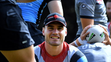 Angus Crichton denies he is seeking a way out of the Roosters.