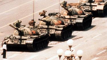 Tiananmen Square in Beijing, China in 1989.
