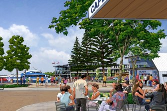 The proposed Toondah Harbour at Cleveland.