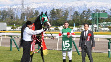 Damian Lane after winning Niigata Daishoten on Mer de Glace two weeks ago.
