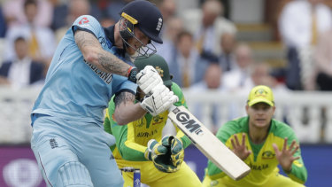 New ground, new opportunity: England's Ben Stokes goes down the ground against Australia at Lord's.  The hosts will fancy their chances better against the same opponent at Edgbaston.