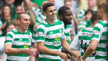 Australian Tom Rogic was in sparkling form for Celtic.