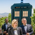 Time travel is mostly in the realm of science fiction like Doctor Who (pictured) but scientists say mathematical modelling shows it is theoretically possible.