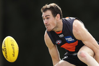 Jeremy Cameron is yet to take a leap of faith and secure his contractual future with the GWS Giants.