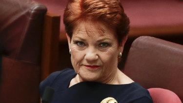 Abstaining: Pauline Hanson will not vote against Fraser Anning.