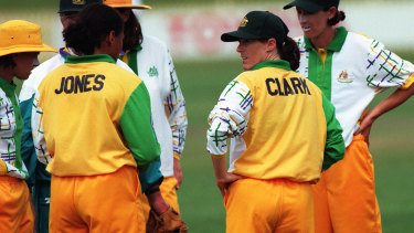Clark in her playing days with Australia.