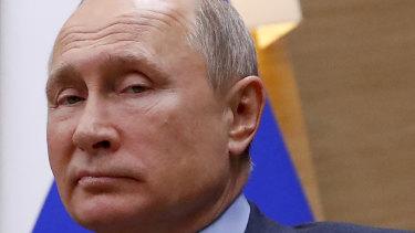 Vladimir Putin in Moscow on Wednesday.
