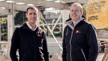Milan Andjelkovic, left and Travis Erridge, co-founders and directors of TM Insight.