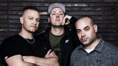 The Hilltop Hoods - (from left) Daniel Smith, Matthew Lambert (Suffa) and Barry Francis - have broke ground and inspired aspiring MCs.