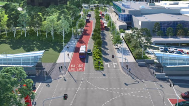Transport for NSW's concept plan for the bus interchange at Macquarie Park.