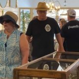 Prime Minister Scott Morrison seen in Berry wearing a bizarre T-shirt from Hairyman Brewery.