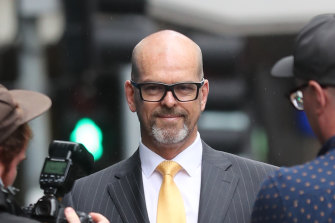 Simon Overland arriving at the royal commission last year.