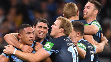 Tyson Frizell and the Blues were up and about in Perth.