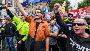 A Change The Rules rally in Melbourne. Public servants in Canberra have been given permission to attend the gathering.