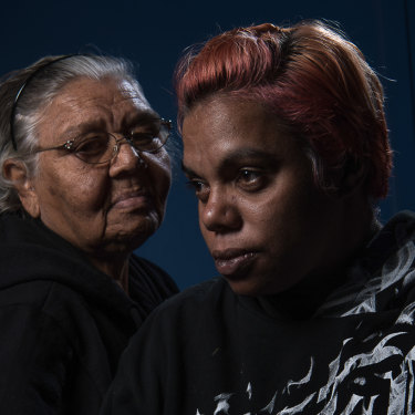 Carol Roe (left) and Sherona Roe, the grandmother and sister of Ms Dhu.
