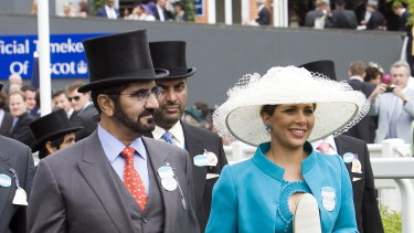 Sheikh Mohammed and Princess Haya at Royal Ascot in England in 2009.
