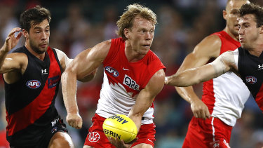 Sydney's Callum Mills and Giants forward Toby Greene are among eight players from both clubs in isolation.