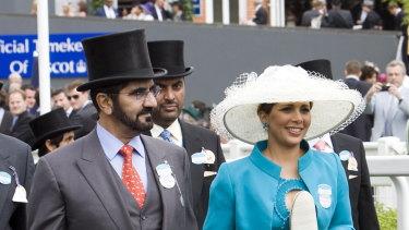 Sheikh Mohammed and Princess Haya at Royal Ascot in England in 2009.